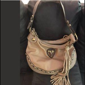 Gucci baboushka leather tan camel heart bag gorg